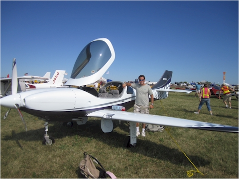 Jay with N26XY at OSH 2011