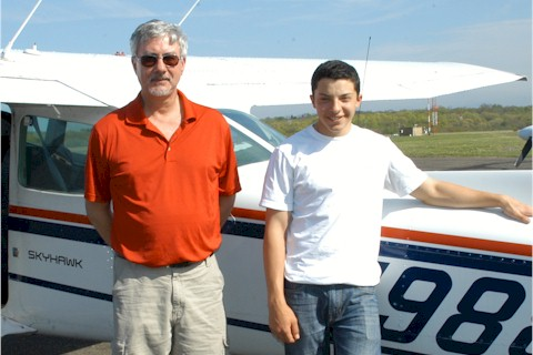Ed Shaker (right) with Instructor Ron Schmecker